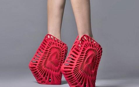 Milan Design Week, 3D printed Shoes.