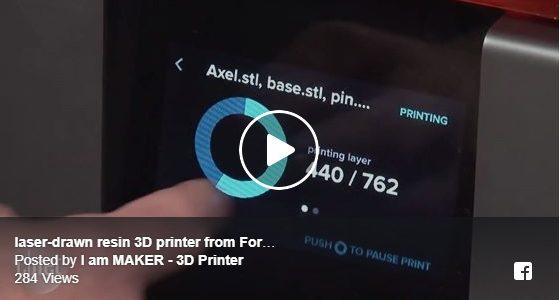 เครื่องพิมพ์สามมิติในระบบ SLA ที่ให้ความละเอียดสูง