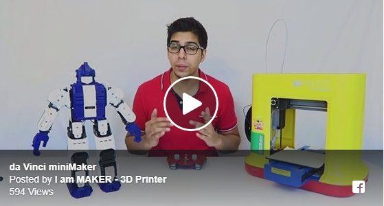 เครื่องพิมพ์สามมิติ da Vinci ในรุ่น miniMaker